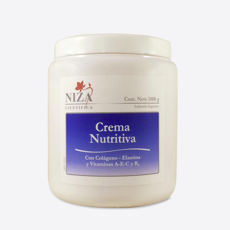 Crema Nutritiva con Colágeno, Elastina y Vitaminas A, E y B5 (1000 gr.)