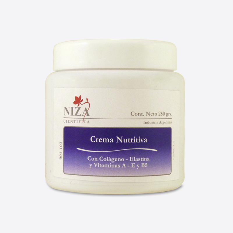 Crema Nutritiva con Colágeno, Elastina y Vitaminas A, E y B5 (250 gr.)