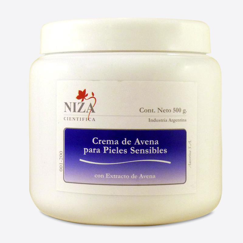 Crema de Avena para Pieles Sensibles con Extracto de Avena (500 gr.)