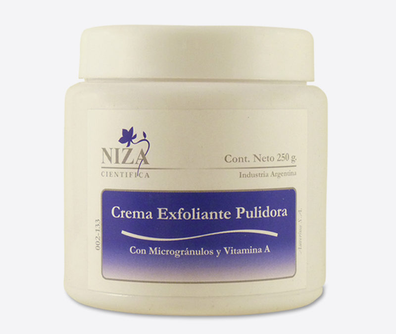 Crema Exfoliante Pulidora Facial con Micro Gránulos y Vitamina A (250 gr.)