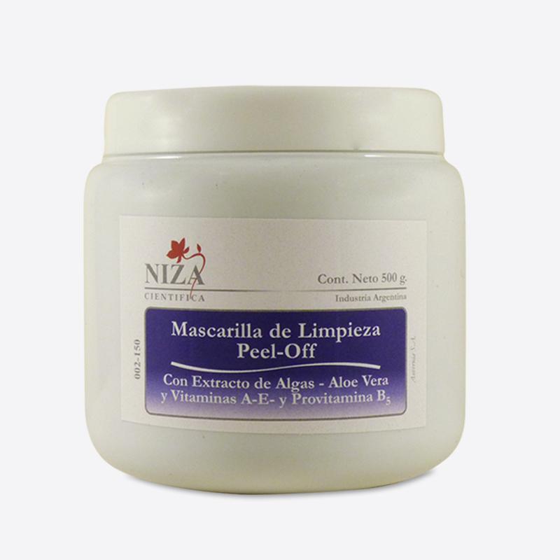 Mascarilla de Limpieza Peel Off con extracto de Aloe Vera, Algas, Vitaminas A-E y Provitamina B5 (500 gr.)