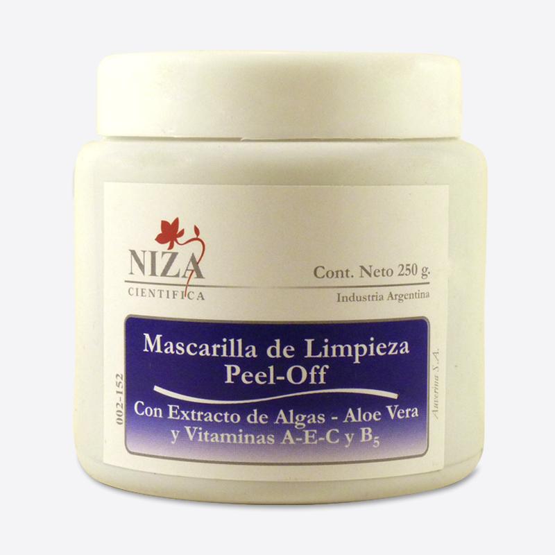 Mascarilla de Limpieza Peel Off con extracto de Aloe Vera, Algas, Vitaminas A-E y Provitamina B5 (250 gr.)