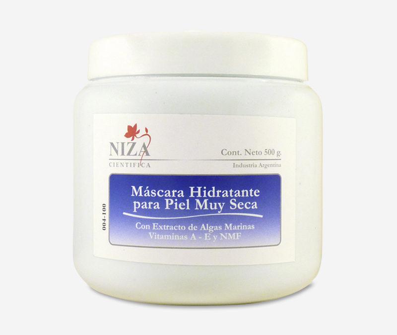Máscara Hidratante Para Piel Muy Seca con Extracto de Algas Marinas, Vitamina A, Vitamina E y Complejo Hidratante (500 gr.)