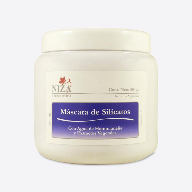 Máscara de Silicatos con Agua de Hammamelis y Extractos Vegetales (500 gr.)