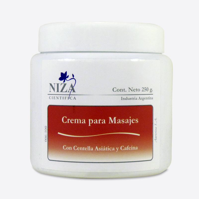 Crema para Masajes con Centella Asiática y Cafeína (250 gr.)