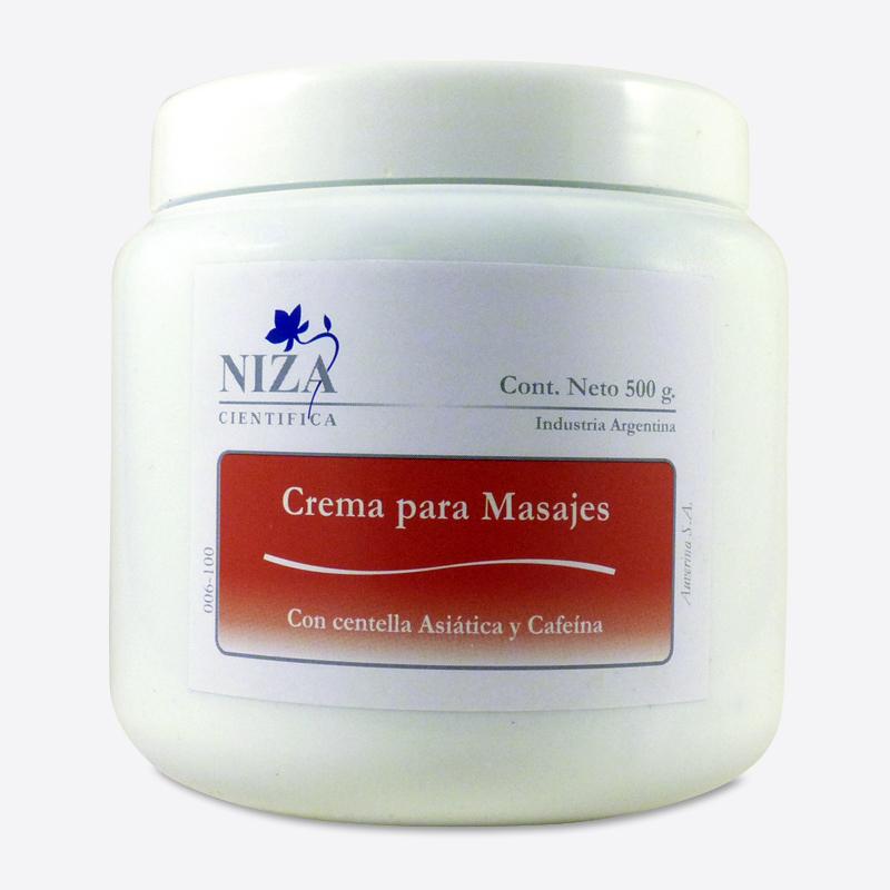 Crema para Masajes con Centella Asiática y Cafeína (500 gr.)