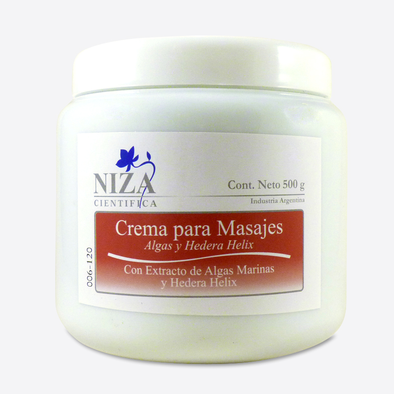 Crema para Masajes con Extracto de Algas y Hedera Helix (500 gr.)