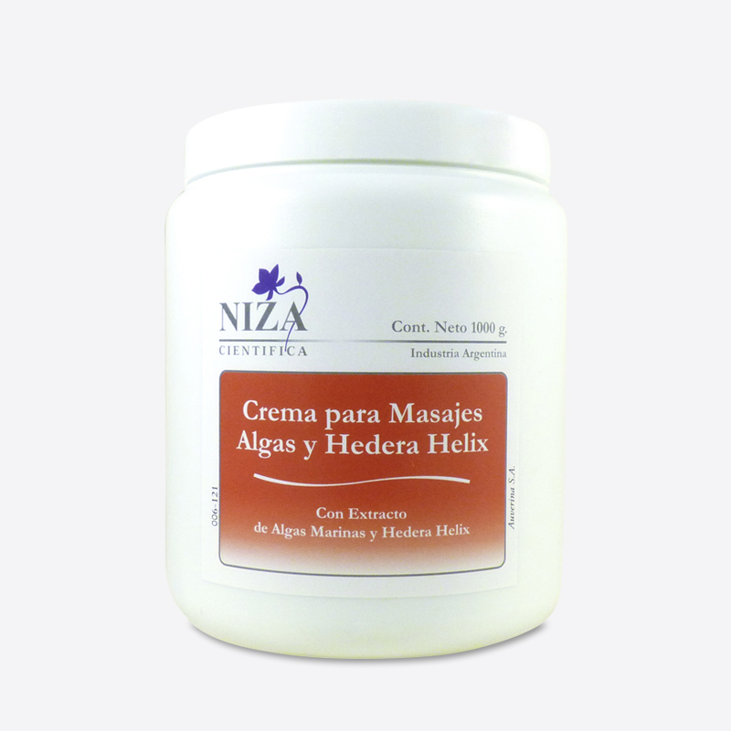 Crema para Masajes con Extracto de Algas y Hedera Helix (1000 gr.)