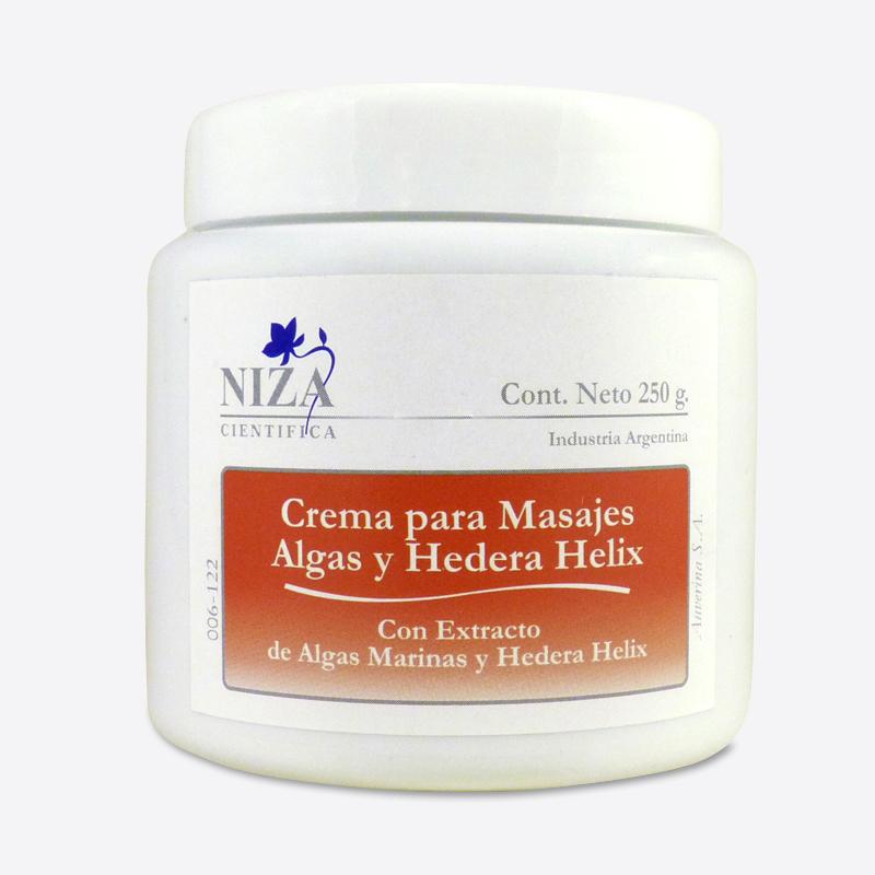 Crema para Masajes con Extracto de Algas y Hedera Helix (250 gr.)