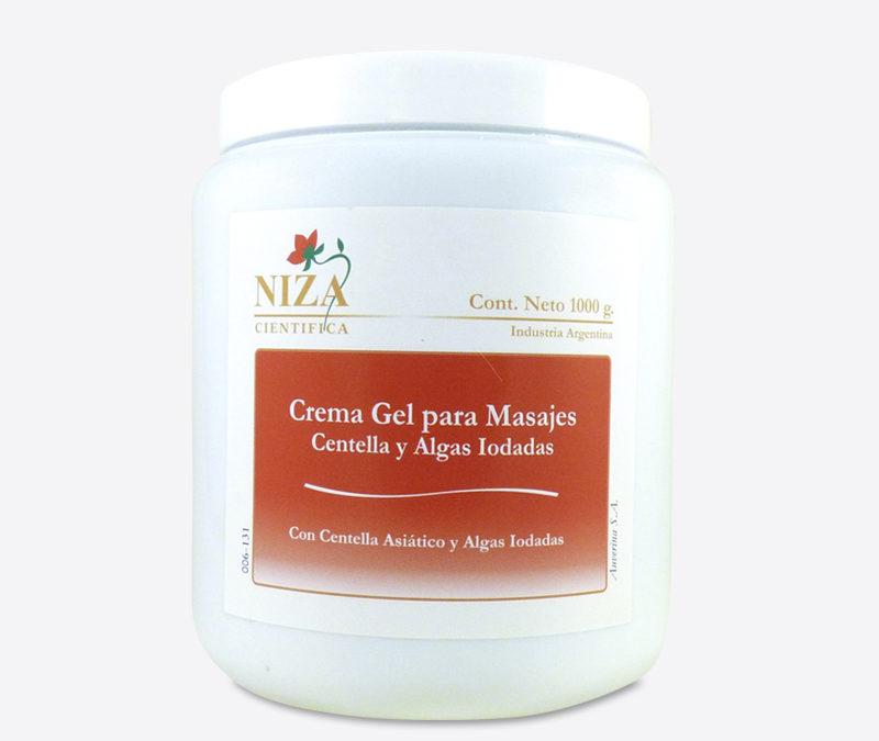 Crema Gel Para Masajes Con Algas Iodadas y Centella Asiática (1000 gr.)