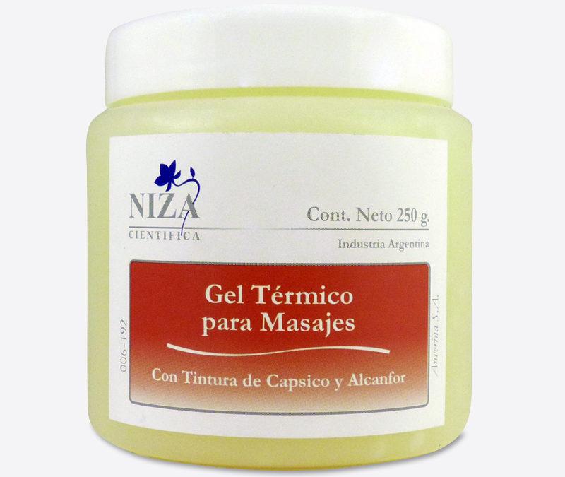 Gel Térmico para Masajes con Tintura de Cápsico y Alcanfor.