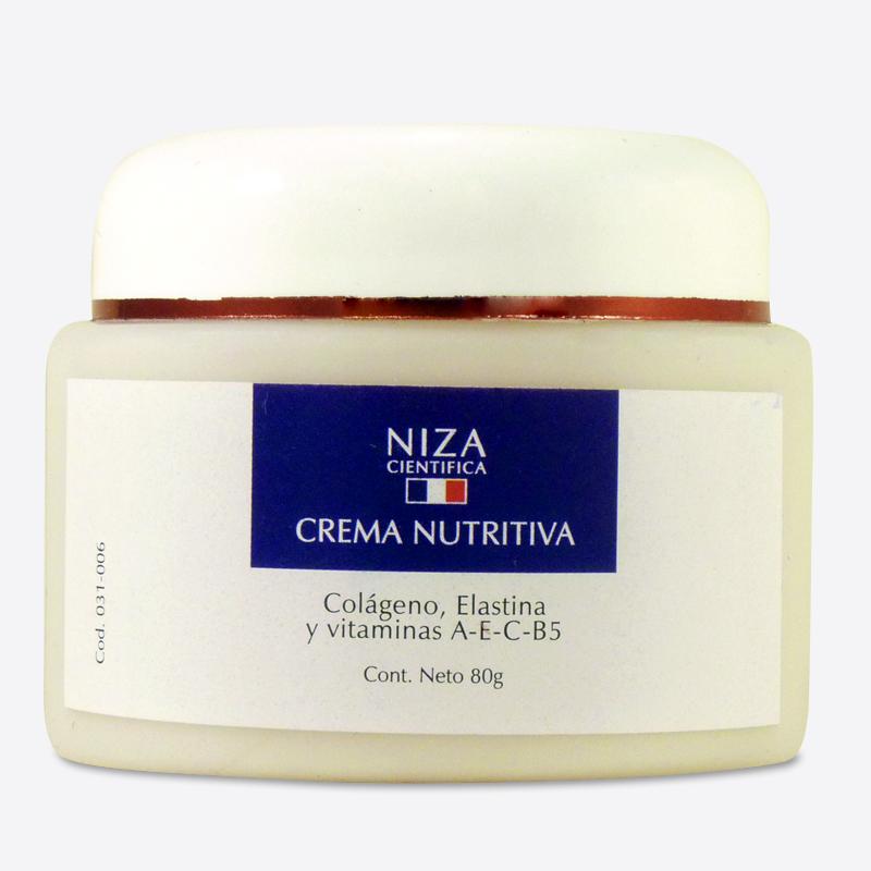 Crema Nutritiva con Colágeno, Elastina y Vitaminas A, E y B5 (80 gr.)