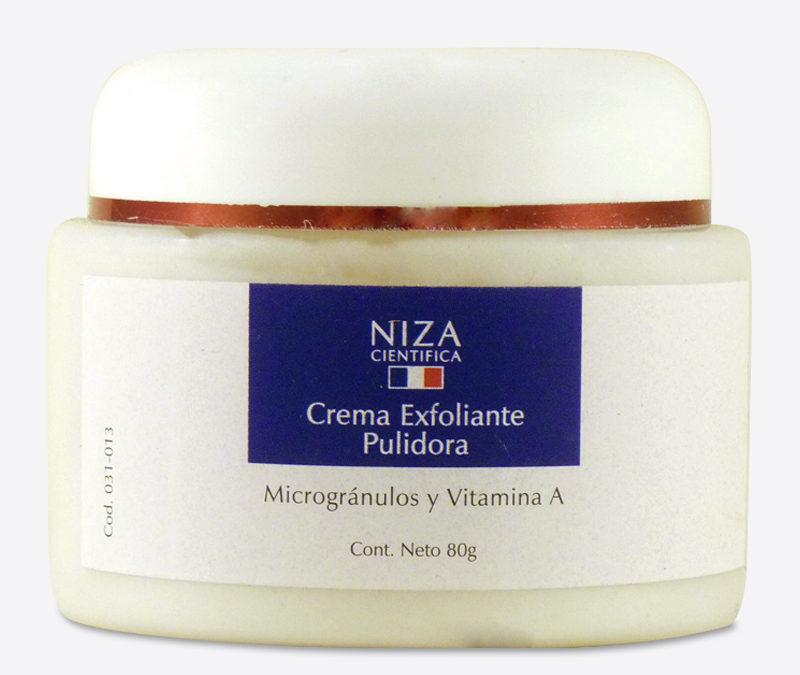 Crema Exfoliante Pulidora Facial con Micro Gránulos y Vitamina A (80 gr.)