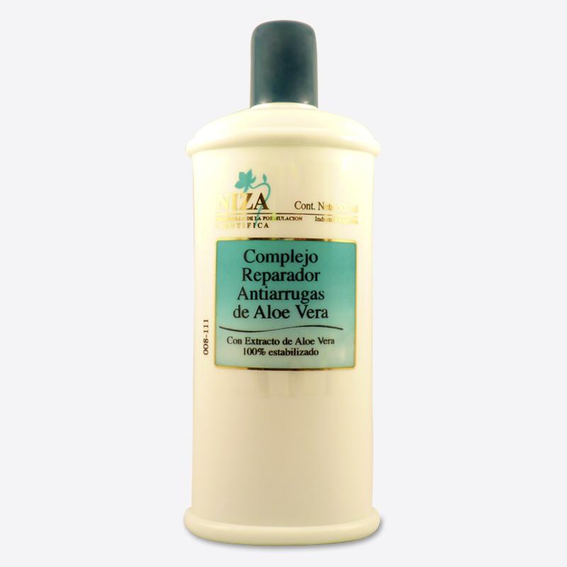 Complejo Reparador Antiarrugas de Aloe Vera (Con extracto de Aloe Vera 100% Estabilizado) (500 ml.)