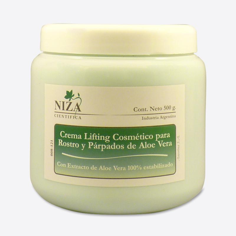 Crema para Lifting Cosmético Rostro y Párpados con Extracto de Aloe Vera 100% Estabilizado (500 gr.)